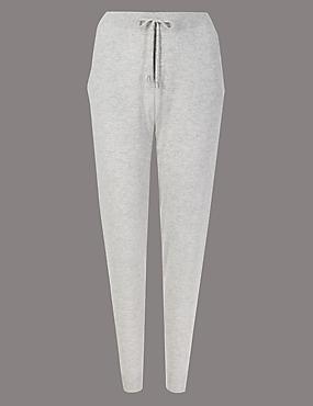 Pure Cashmere Textured Joggers , GREY MIX, catlanding