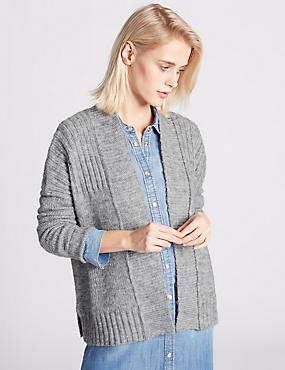 Long Sleeve Cardigan with Wool