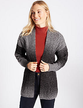 Textured Ombre Longline Cardigan