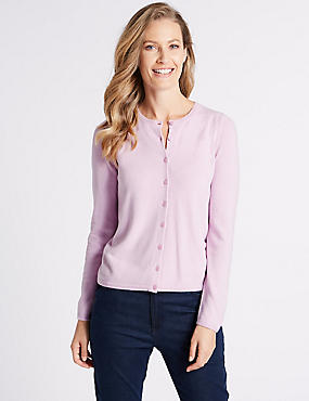 Long Sleeve Cardigan, LILAC, catlanding