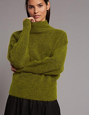 Wool Blend Turtle Neck Jumper