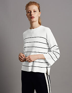 Striped 3/4 Sleeve Jumper