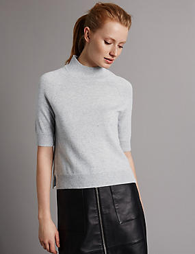 Pure Cashmere Raglan Turtle Neck Jumper