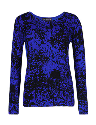 Landscape Print Jumper Clothing