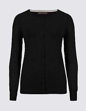 Button Through Round Neck Cardigan