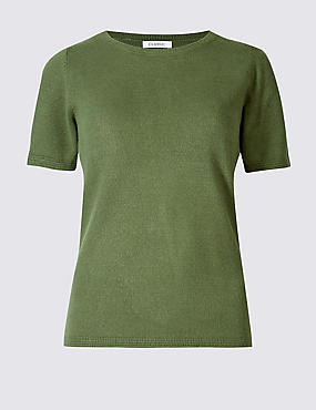 Cashmilon™ Round Neck Short Sleeve Jumper