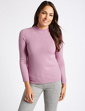 Funnel Neck Long Sleeve Jumper