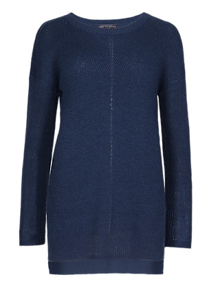 Deflected Ribbed Jumper with Wool Clothing