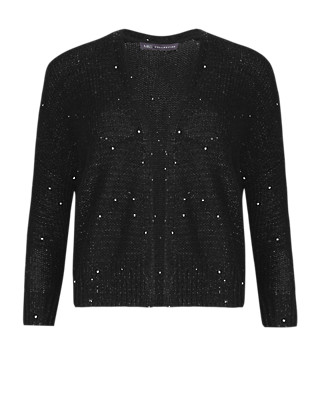 Open Front Sequin Embellished Bolero Cardigan Clothing