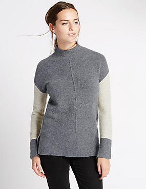 Oversized Jumper with Wool