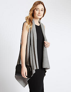 Open Front Sleeveless Coatigan