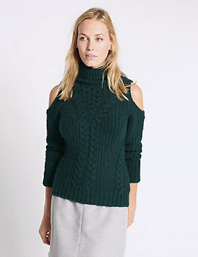 Cable Cold Shoulder Jumper