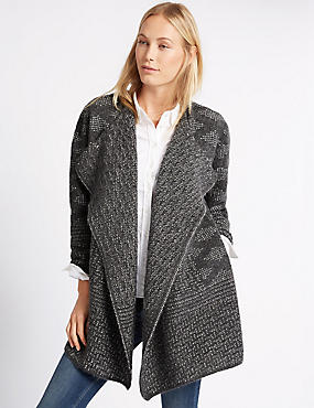 Long Sleeve Crafted Waterfall Cardigan