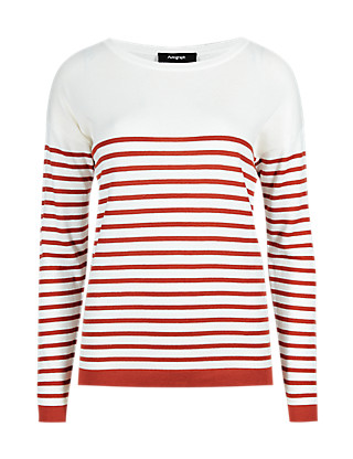 Striped Jumper with Modal Clothing