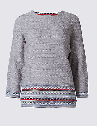 Textured Jumper Clothing