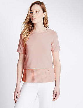 Pleated Hem Jumper