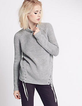 Tie Side Textured Jumper