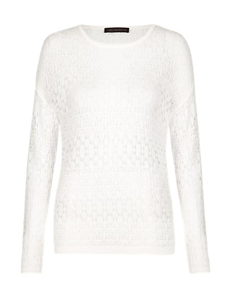 All-Over Deco Stitched Jumper