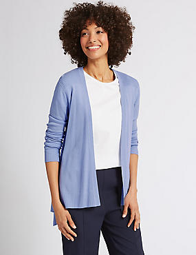 Long Sleeve Cardigan , BLUEBELL, catlanding