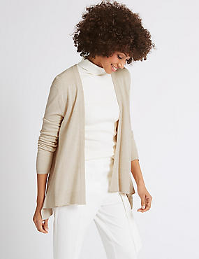 Long Sleeve Cardigan , NATURAL MIX, catlanding