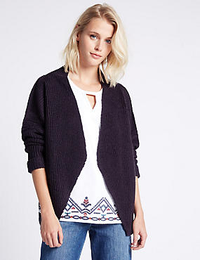 Multi Stitch Textured Cardigan