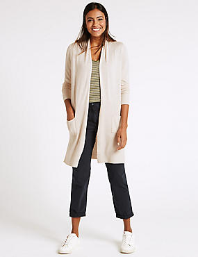 Open Front Twin Pocket Cardigan