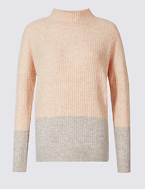 Colour Block Drop Shoulder Jumper