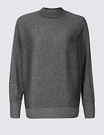 Sparkly Turtle Neck Jumper
