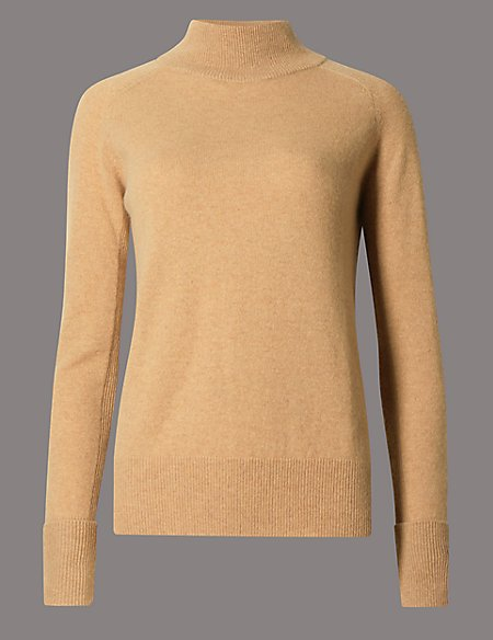 Pure Cashmere Turtle Neck Jumper