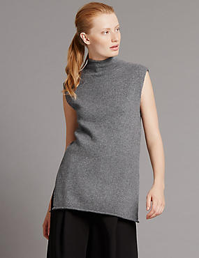 Pure Cashmere Sleeveless Jumper