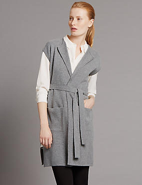Long Sleeve Belted Milano Knitted Cardigan