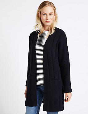 Textured 2 Pocket Cardigan