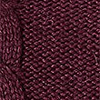 Cotton Blend Cable Round Neck Jumper , PLUM, swatch