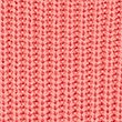 Pure Cotton Cable Knit Slash Neck Jumper, WATERMELON, swatch