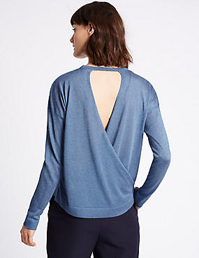 Open Back Round Neck Jumper