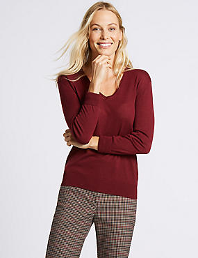Wool Rich V-Neck Jumper