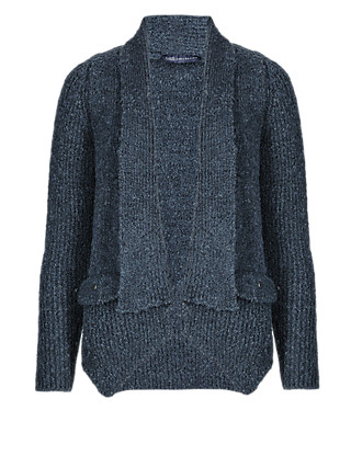 Open Front Textured Cardigan Clothing