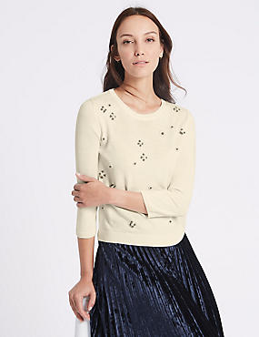 Pearl Round Neck Jumper