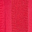 Ribbed Open Front Long Sleeve Cardigan , BRIGHT RED, swatch