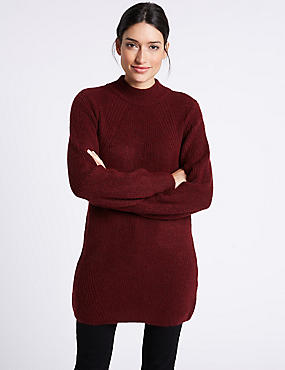 Funnel Neck Tunic Jumper