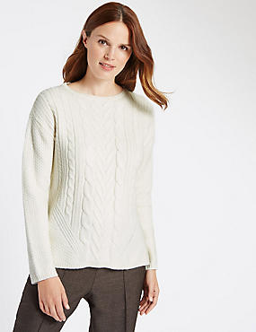 Cable Knit Long Sleeve Jumper