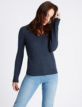 Lambswool Rich V-Neck Jumper