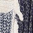 Cotton Rich Colour Block Slash Neck Jumper , NAVY MIX, swatch