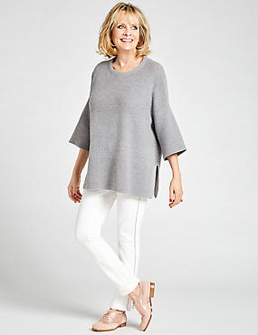 Wool Rich Textured Round Neck Jumper