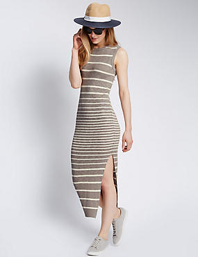 Cotton Rich Striped Maxi Dress