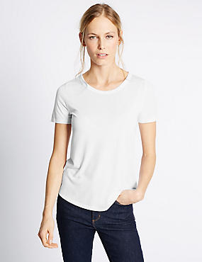 White T Shirts & Tops | Plain & Pretty Womens T-shirts | M&S
