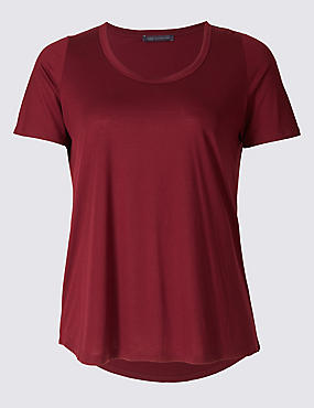 PLUS Round Neck Short Sleeve T-Shirt