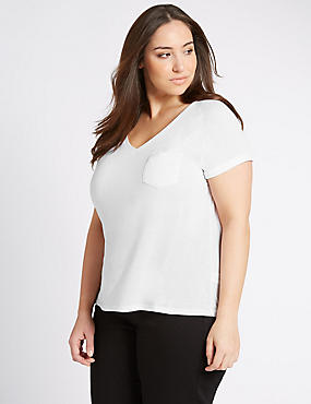 PLUS V-Neck Modern T-Shirt