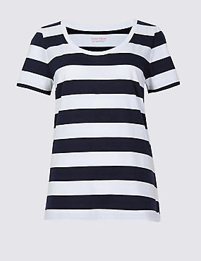 Pure Supima Cotton Striped T-Shirt