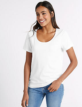 Pure Supima Cotton Scoop Neck T-Shirt